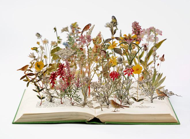 Nature in Britain , 2012, book-cut sculpture