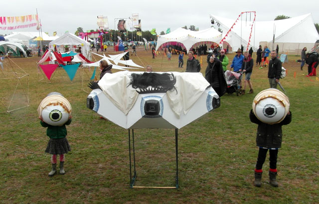 The tri-clops camera at a festival.