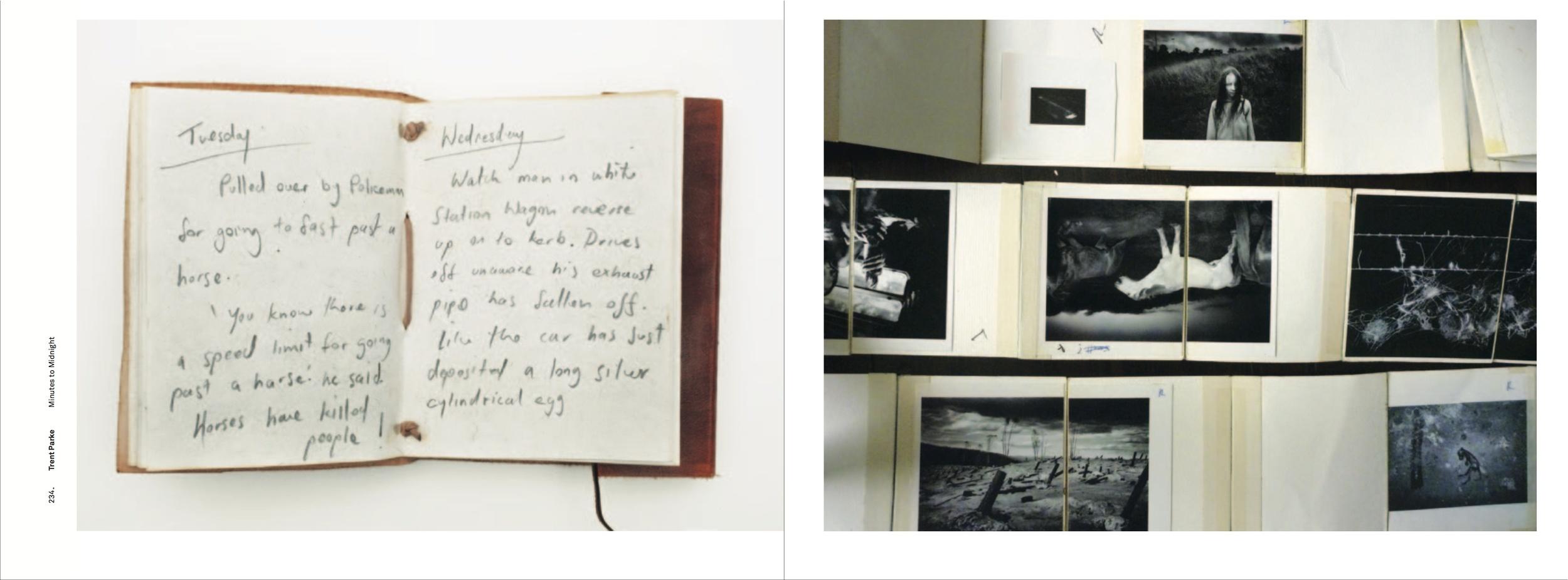 Trent Parke's sketchbook.