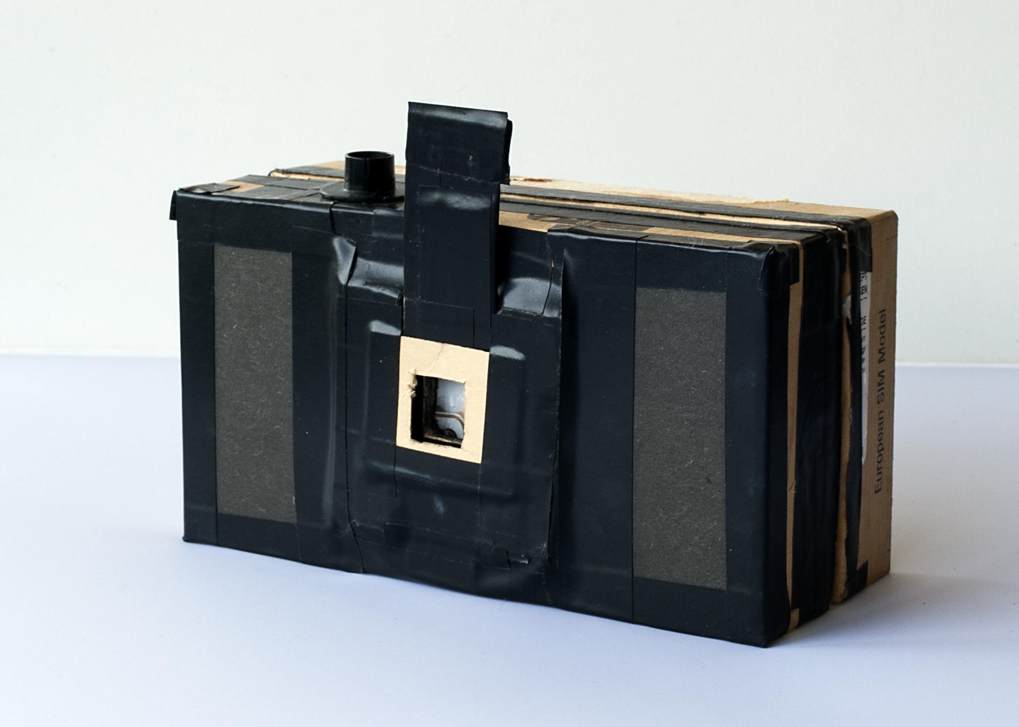 35mm pinhole camera made from a smartphone box.