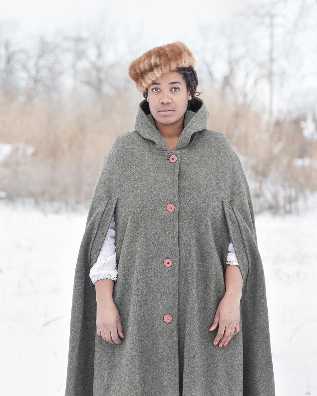 Untitled (Woman in the Snow, Detroit, MI) ,  Jennifer Garza-Cuen