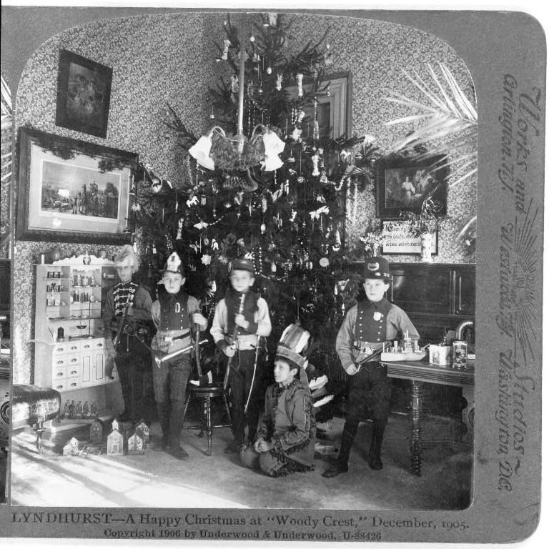 Lyndhurst School, Tarrytown, NY, 1905. Sterocard.
