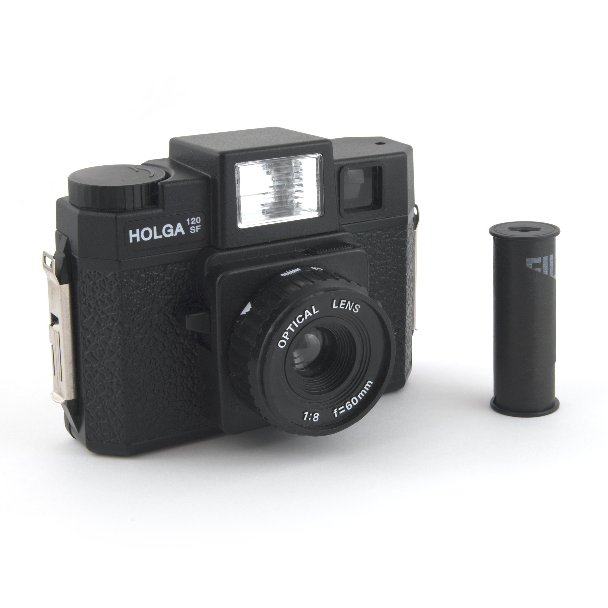 Holga 120SF with film by Bilby via  Wikimedia Commons