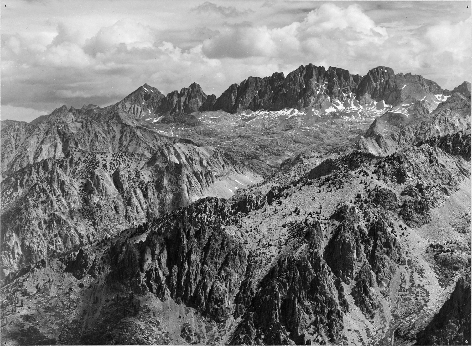 North Palisade from Windy Point ,  Ansel Adams