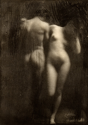 Adam und Eva 1898  by Frank Eugene via  Commons