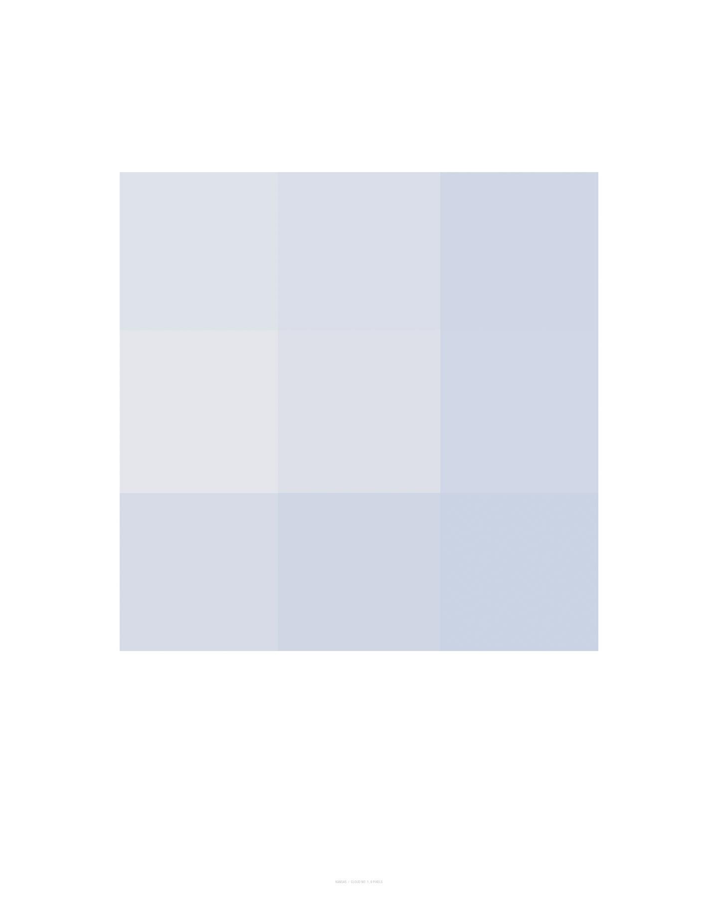 Cloud No. 1, 9 Pixels