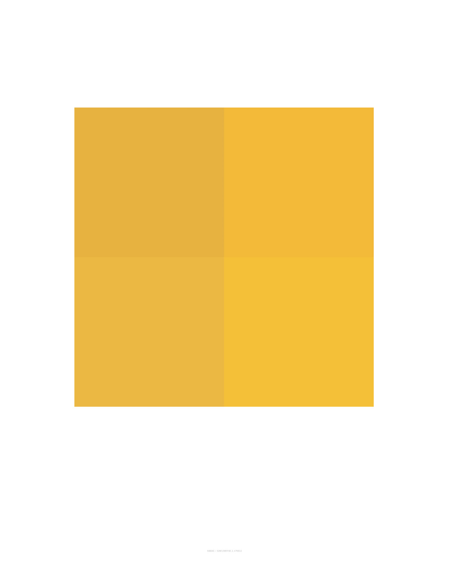 Sunflower No. 2, 4 Pixels