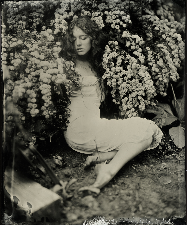Megan in Flowering Bush