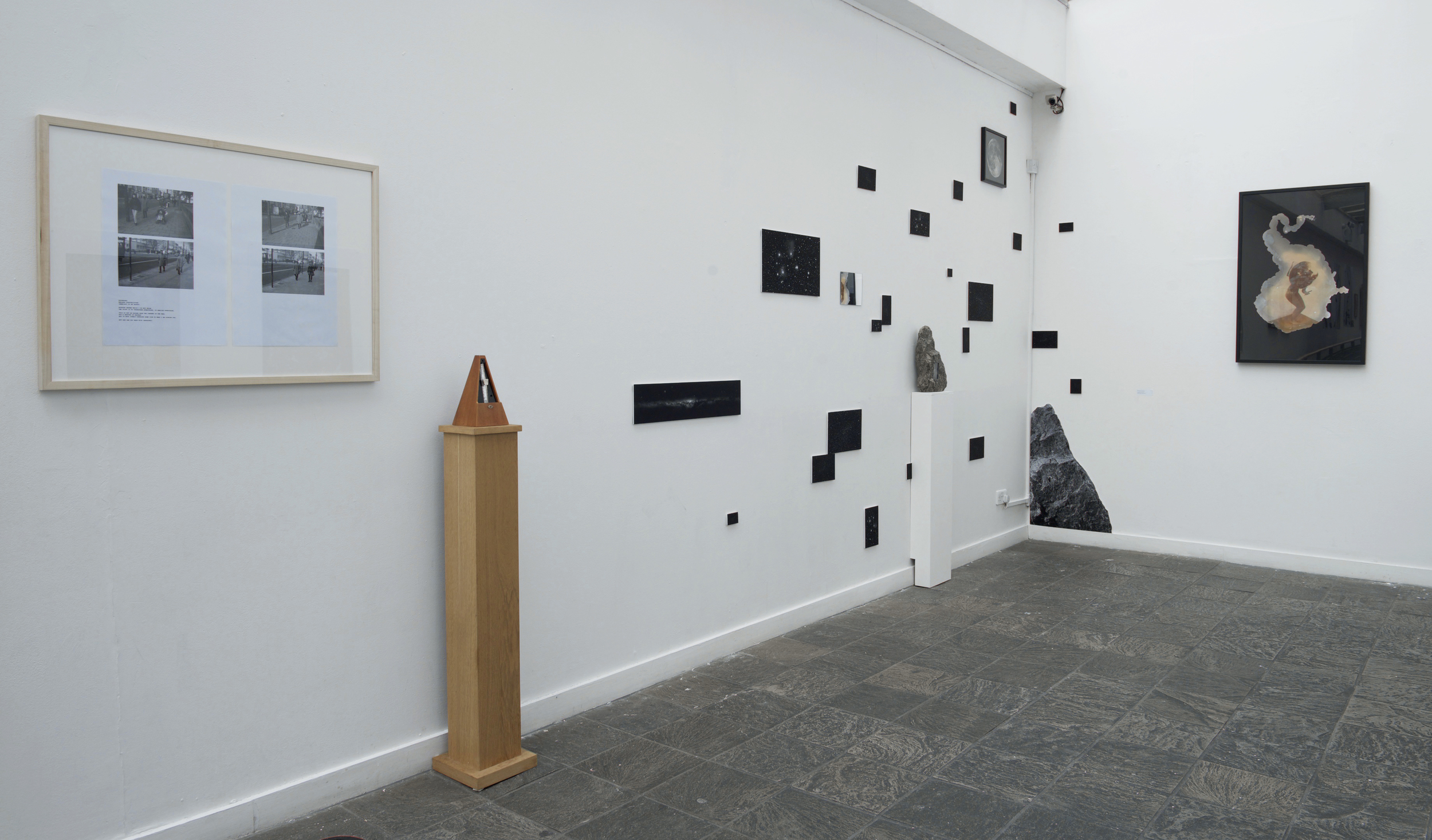 Photography as Installation  (installed 2014 at Oxford House). Courtesy of Oxford House, London and the artists Peter Ainsworth, Marcello Simeone, Ian Rudgewick-Brown, Ella Bryant.
