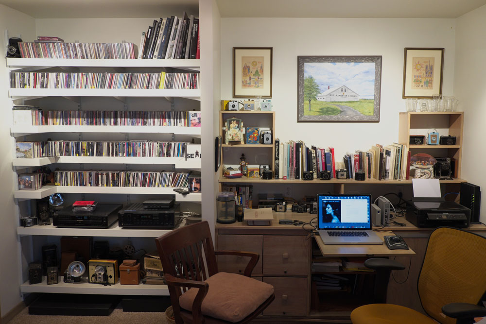 The home office of photographer  Bruce Morton .