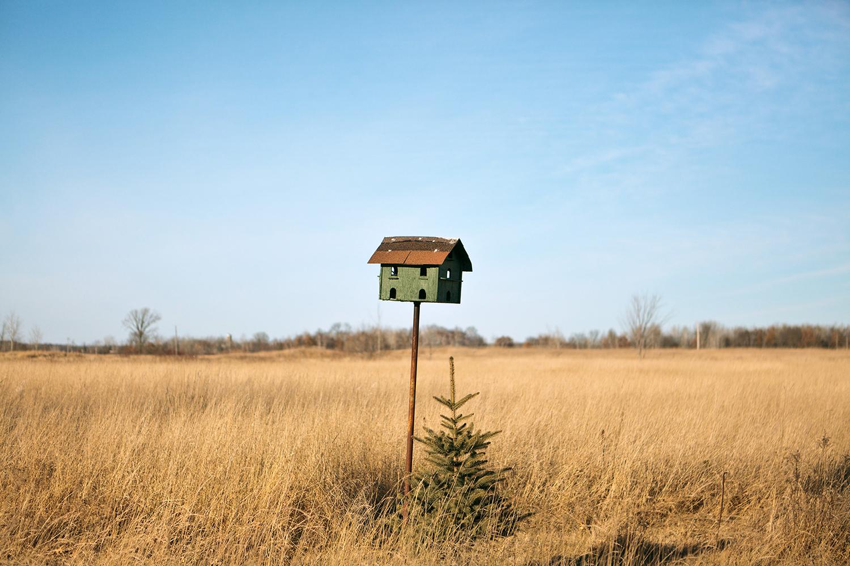 Birdhouse, 2011  from the series  Northwoods Journals ,  Kurt Simonson