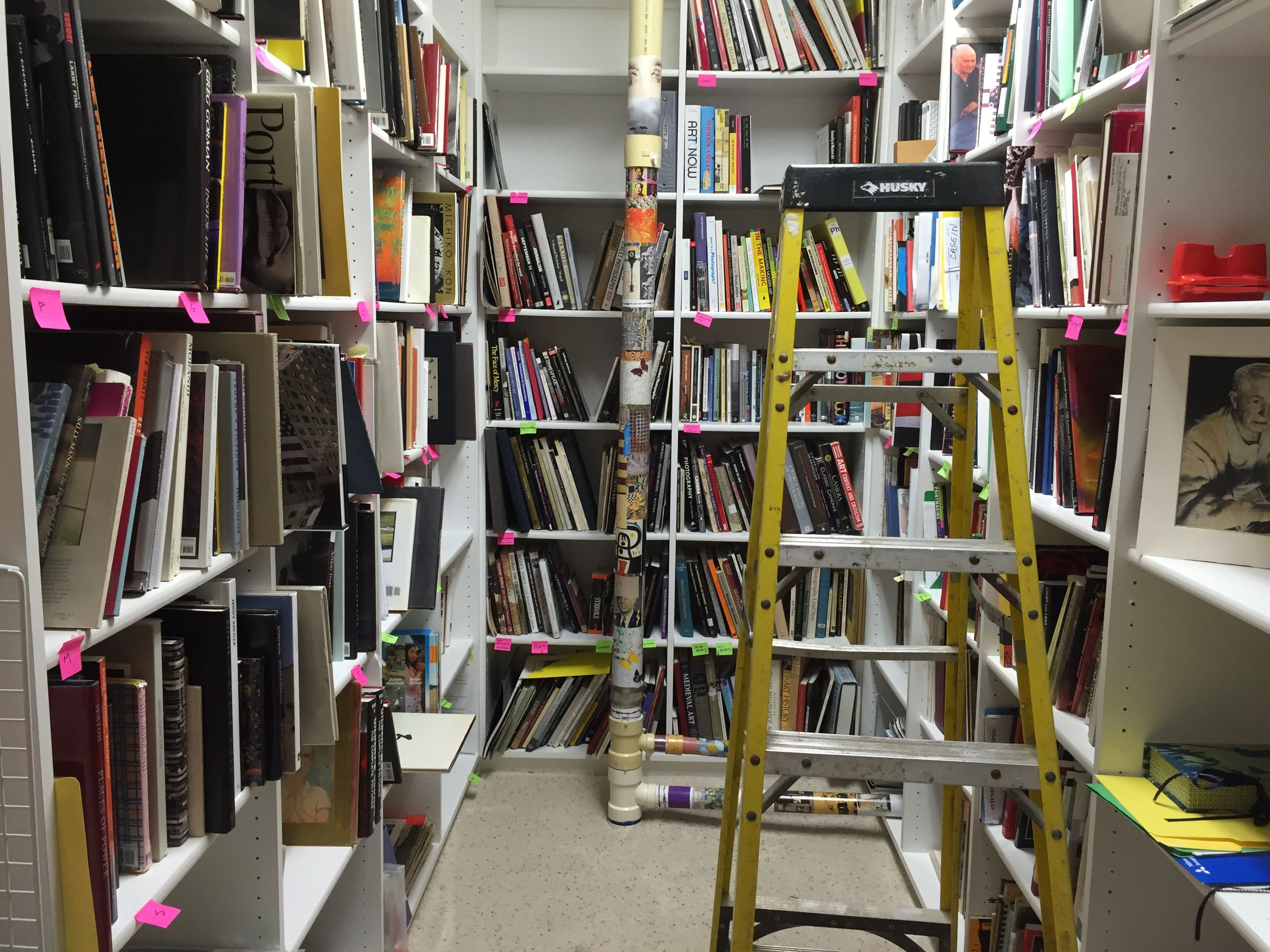 Over 1,200 photobooks in  Marydorsey Wanless ' library.