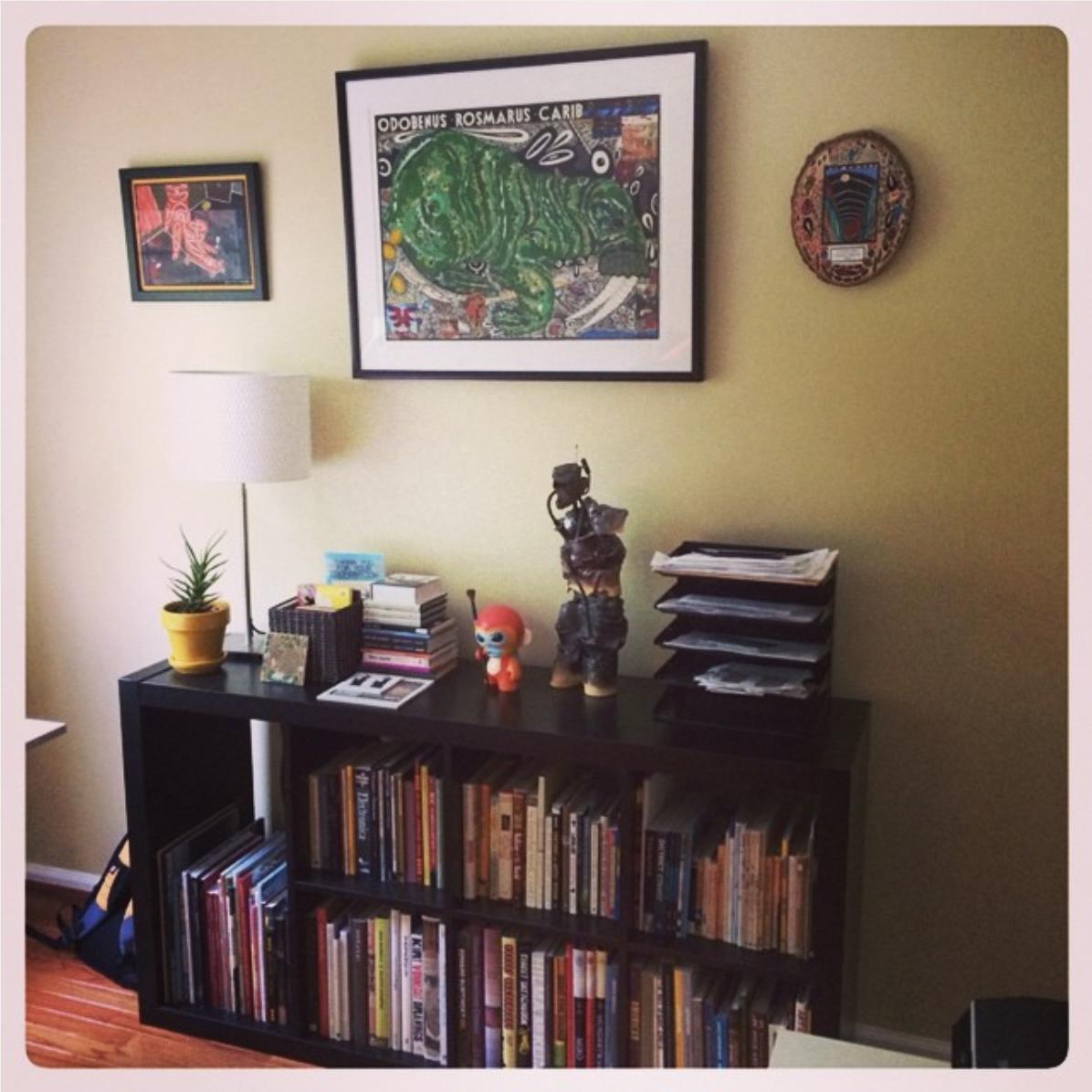 Steve Loya 's colorful studio. (submitted via Instagram by  Sloya72 )