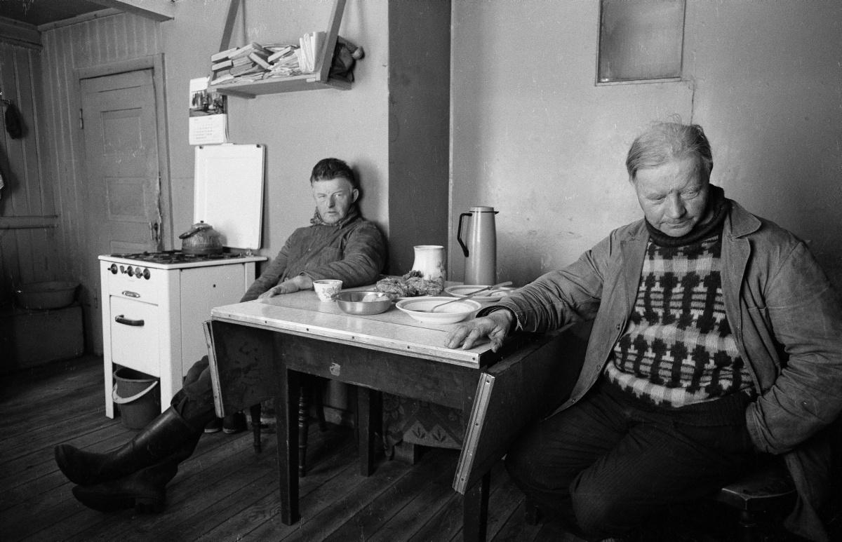 Gunnar V. Andrésson (1950-) Brothers in Vopnafjörður, east Iceland, 1979.
