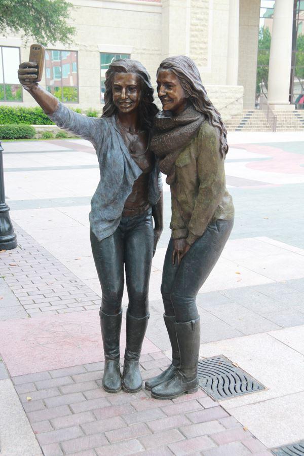Sugar Land selfie sculpture, courtesy of  Sugar Land Parks and Recreation
