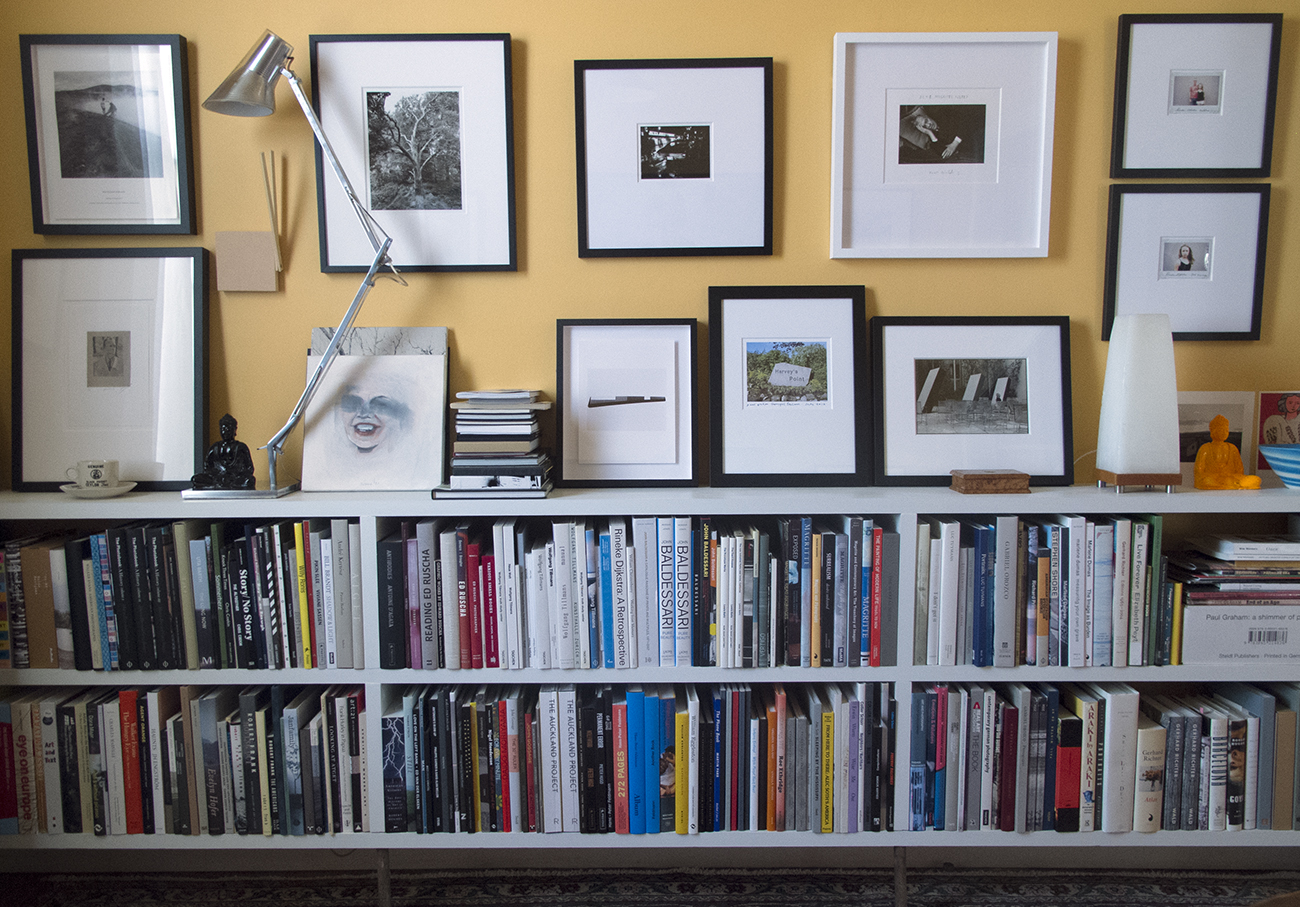 Harvey Benge 's art and photobook collection in Auckland, New Zealand.