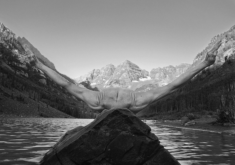 Maroon Bells Sunrise, Aspen, Colorado, 2012, ©Arno Rafael Minkkinen/Courtesy Edwynn Houk Gallery, New York