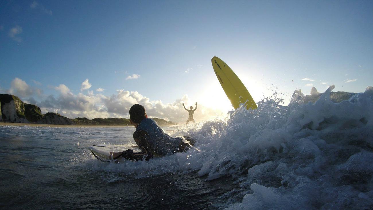 Sunset Surfing