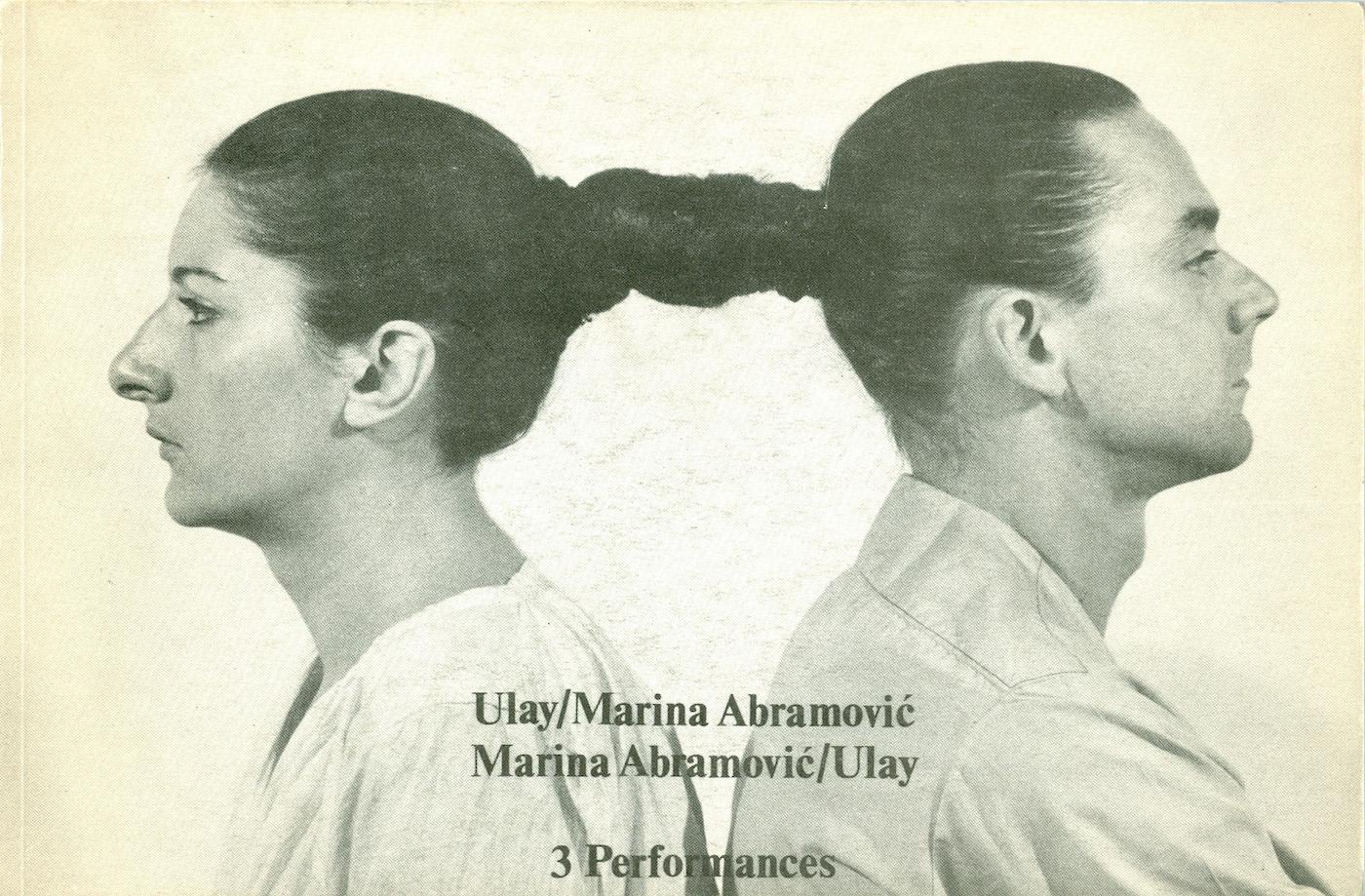 Artists' book by Marina Abramović and Ulay, via  Wikipedia