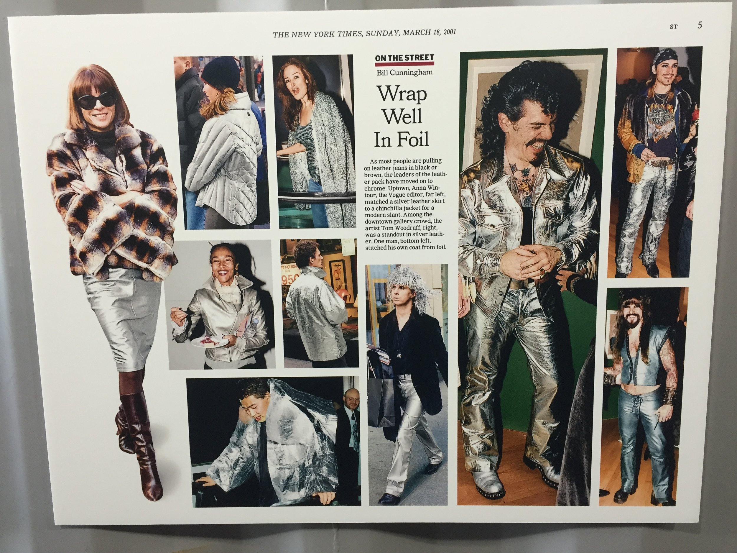 Bill Cunningham's  New York Times  spreads. Photo by the author.