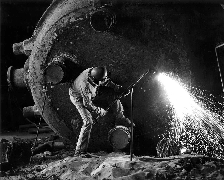 Torch Cutting, Steel Works ,  Thomas Hocker