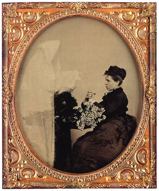 Spirit photograph, unknown, c. 1875