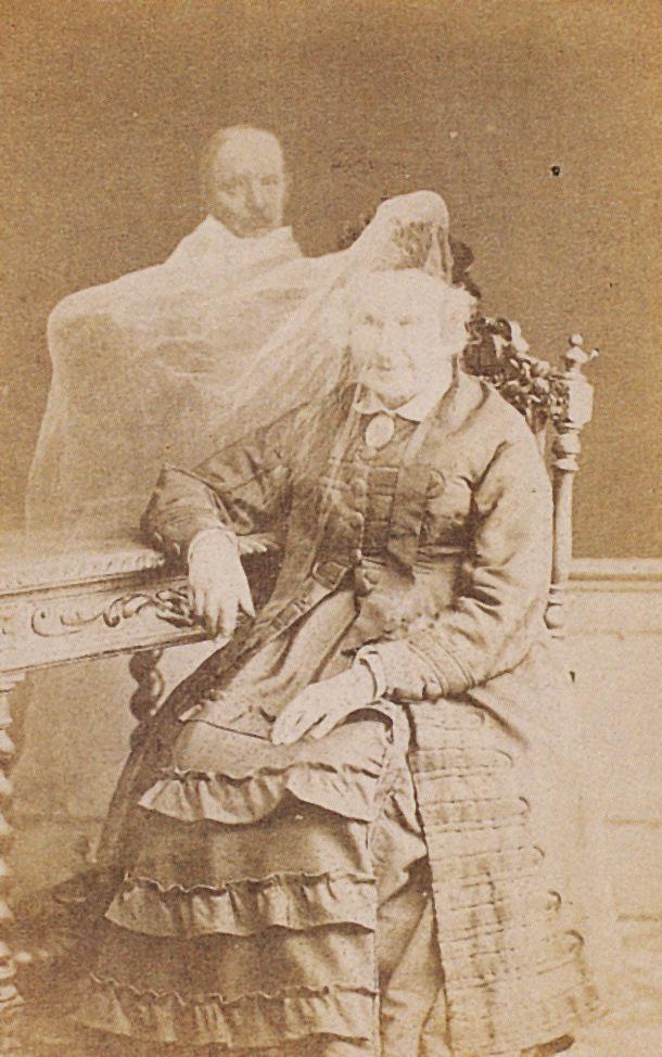 Spirit photograph, unknown