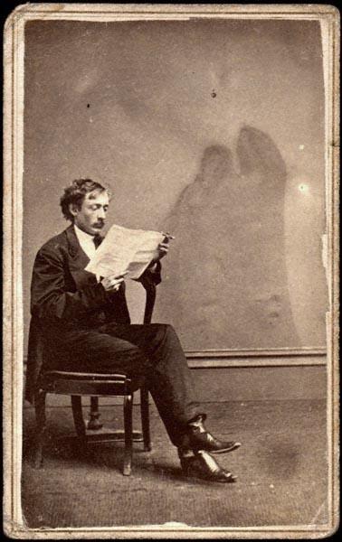 Spirit photograph carte de viste, Phillips Bros., c. 1870
