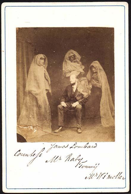 Spirit photograph, Frederick A. Hudson, c. 1875
