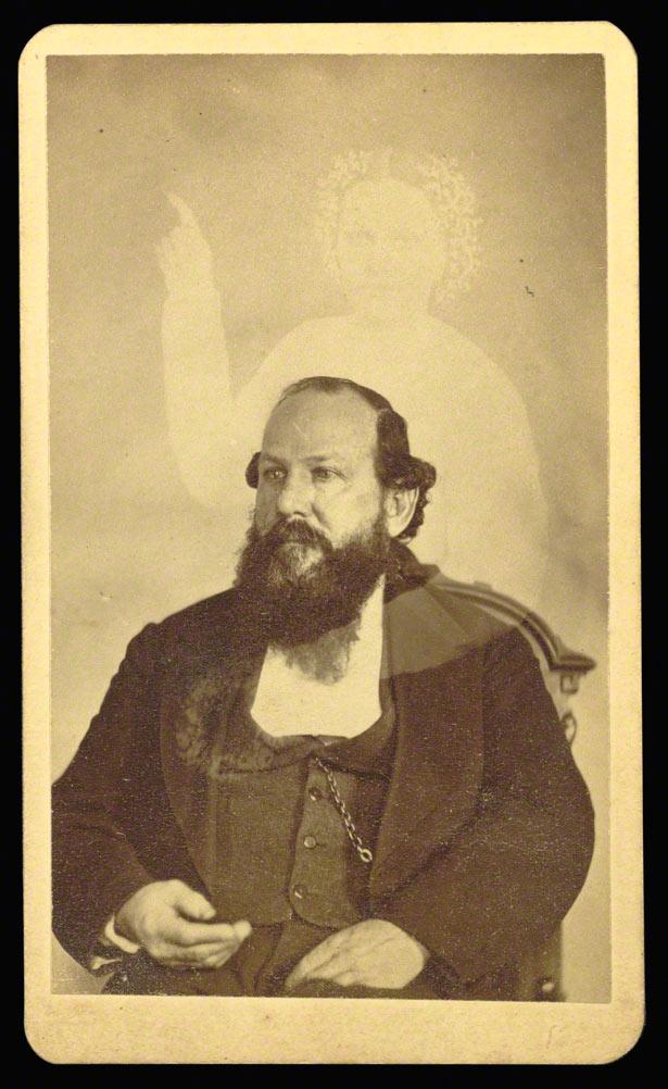 Spirit photograph (self-portrait with deceased cousin), William Howard Mumler, 1861