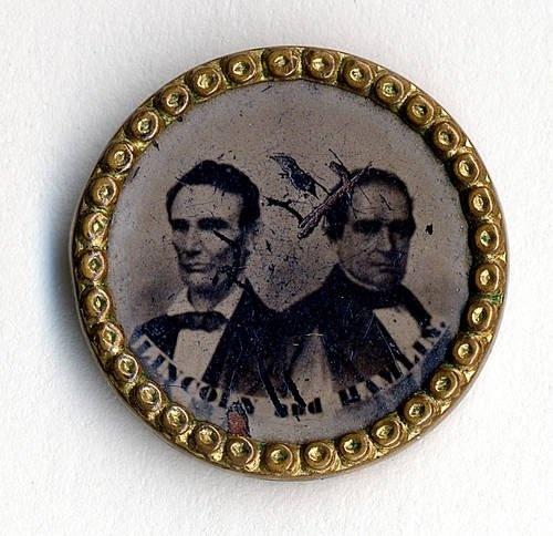 Lincoln-Hamilton 1860 campaign button