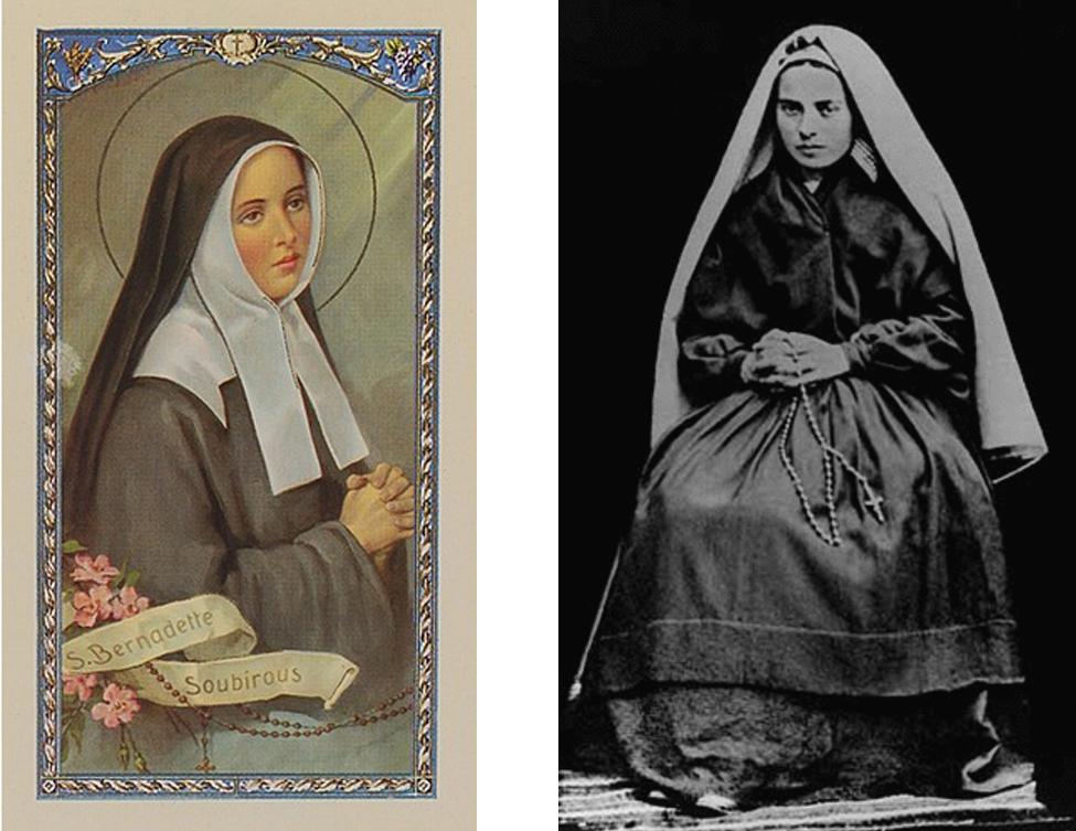 Saint Bernadette Soubirous  (1844 – 1879). Canonized: 1933. Photo: 1866