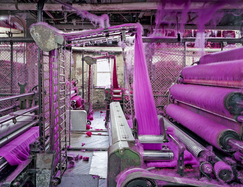 Wool Carding, S&D Spinning Mill, Millbury, MA, 2012
