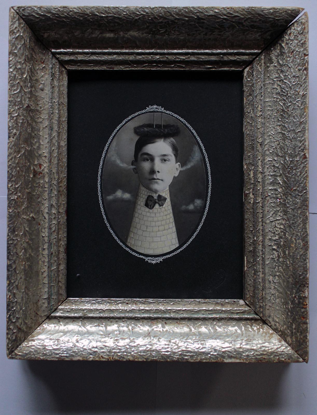 Jane Paleckova's altered vintage photographs. Photo courtesy of the artist.