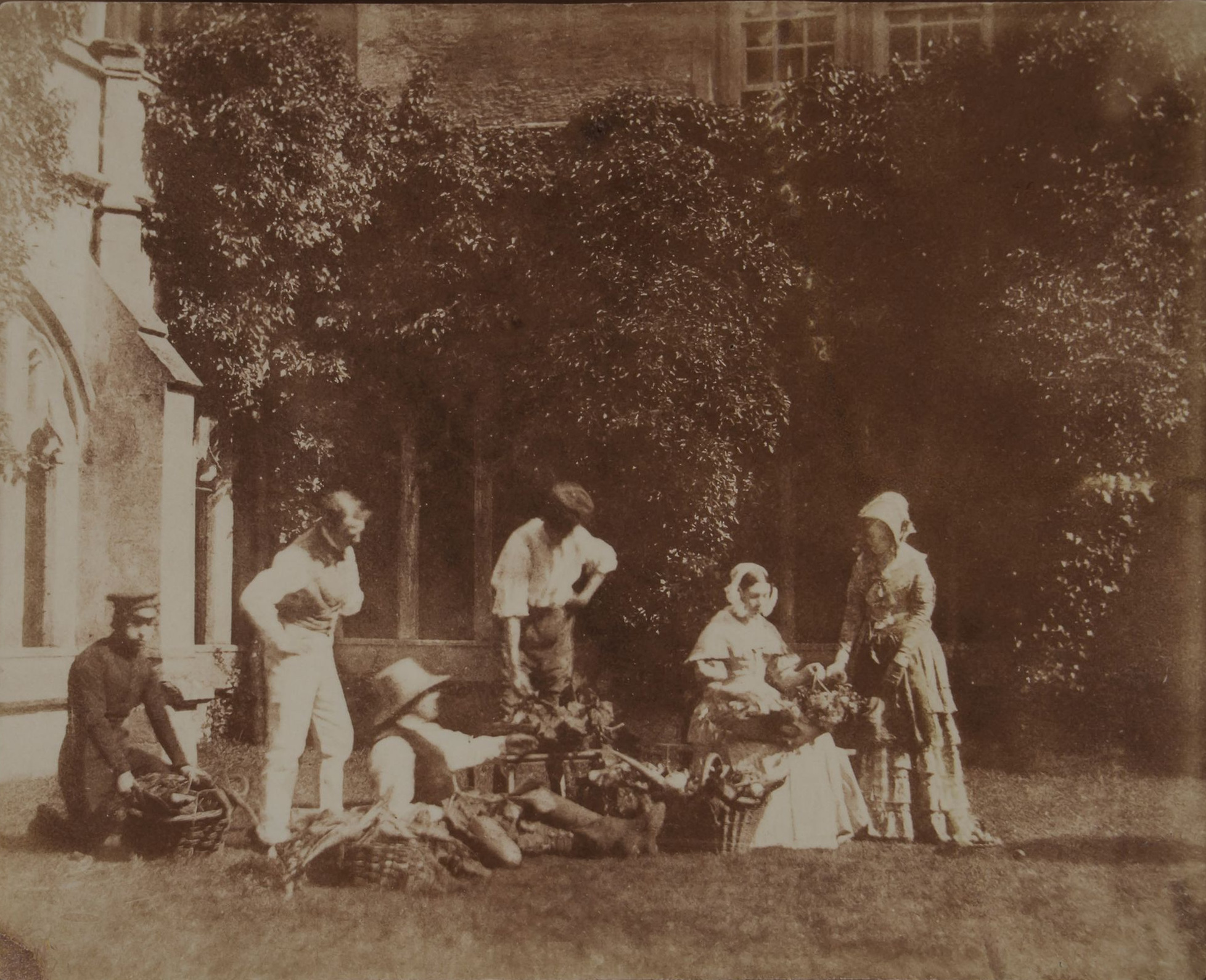 The Fruit Sellers, c. 1845 by William Henry Fox Talbot