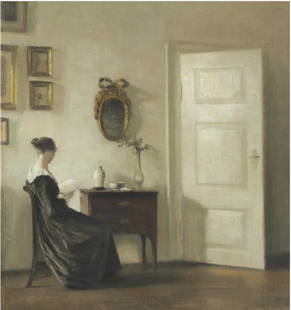 The Carl Vilhelm Holsøe painting that led authorities to the thief in Denmark.
