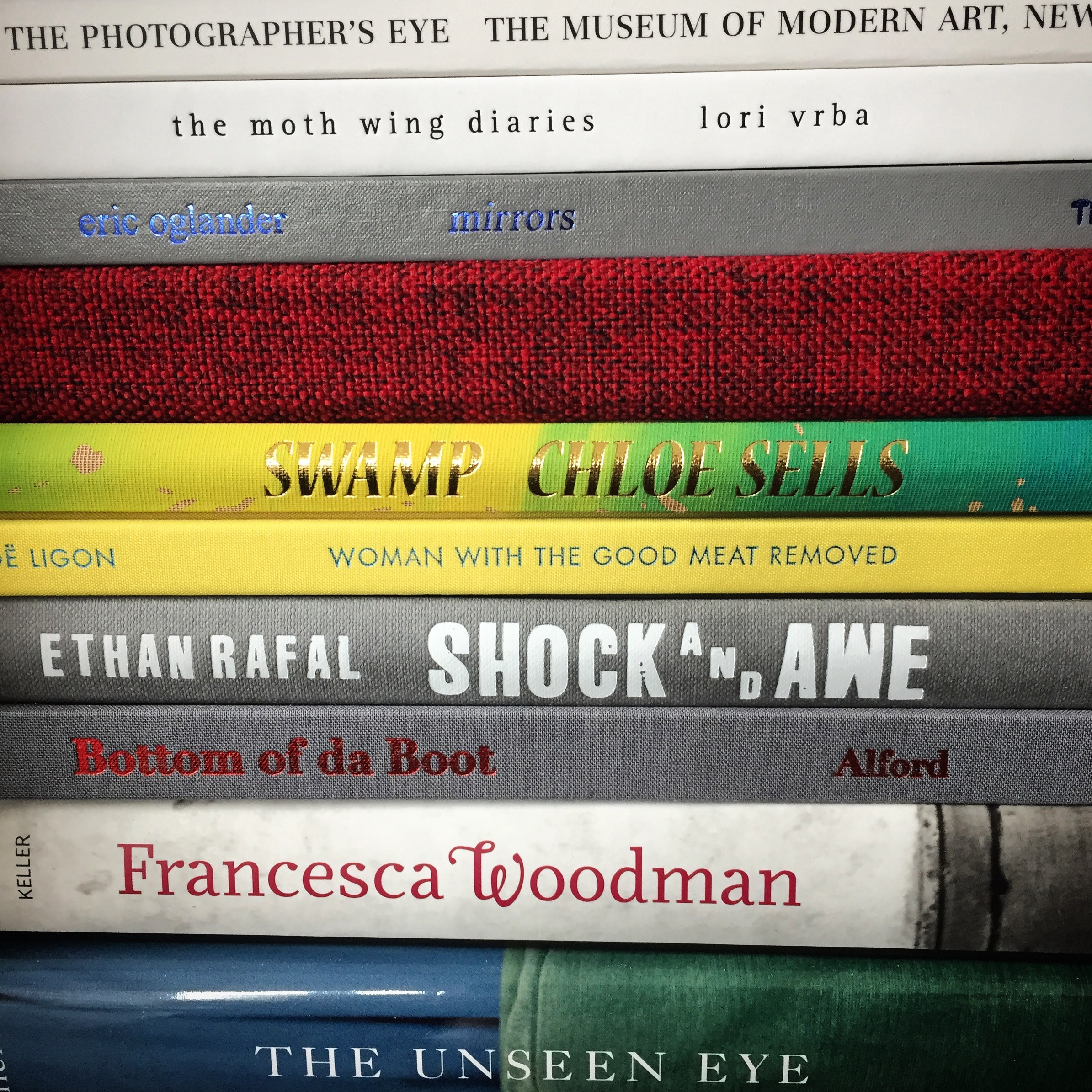 A small sliver of  Jennifer Yoffy Schwartz 's photobook library.