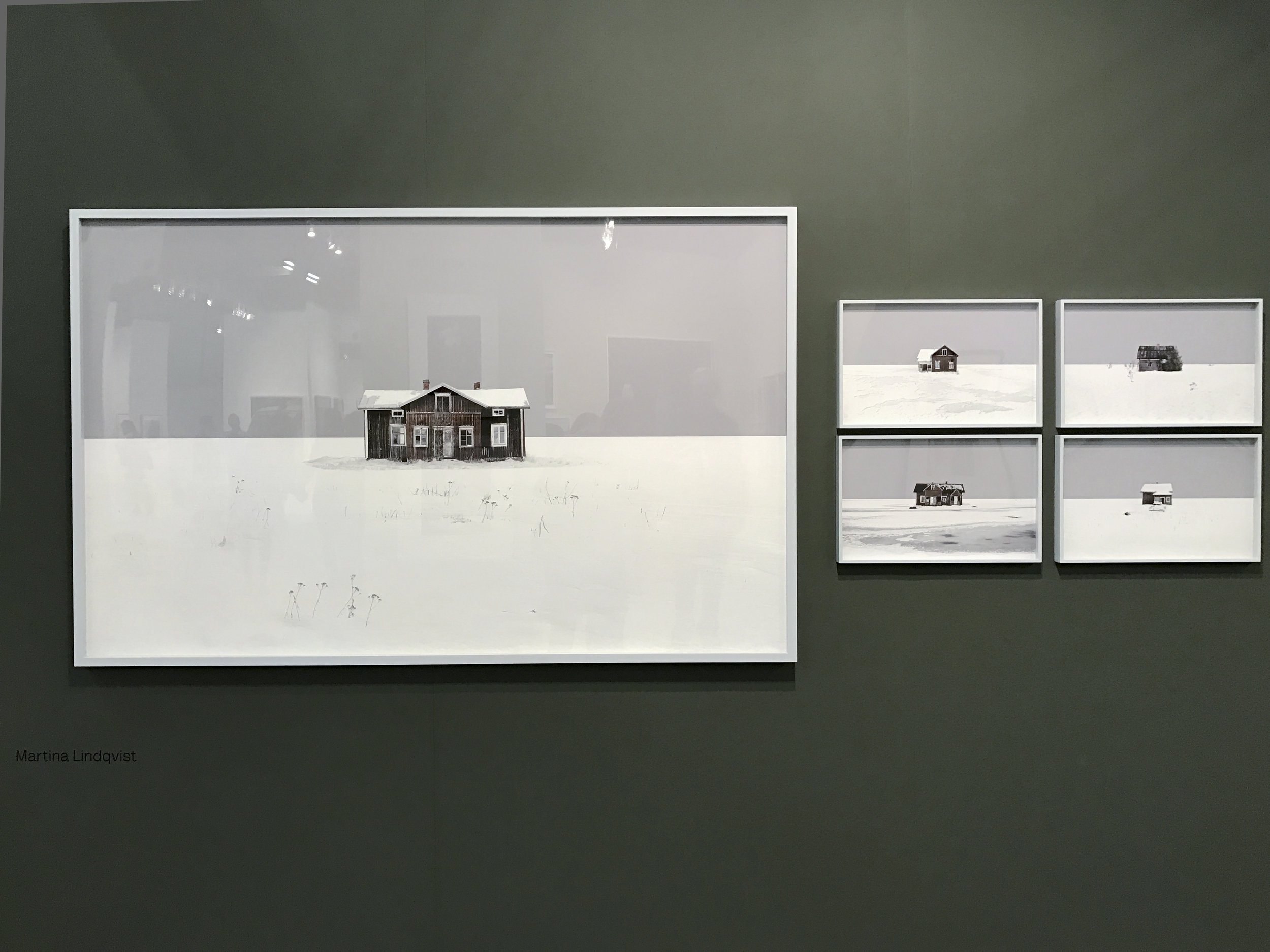 Untitled  from the series  Neighbours , Martina Lindqvist, 2013, Archival pigment print, 12 x 19.5 inches (works on the right side). On view at Booth 801.