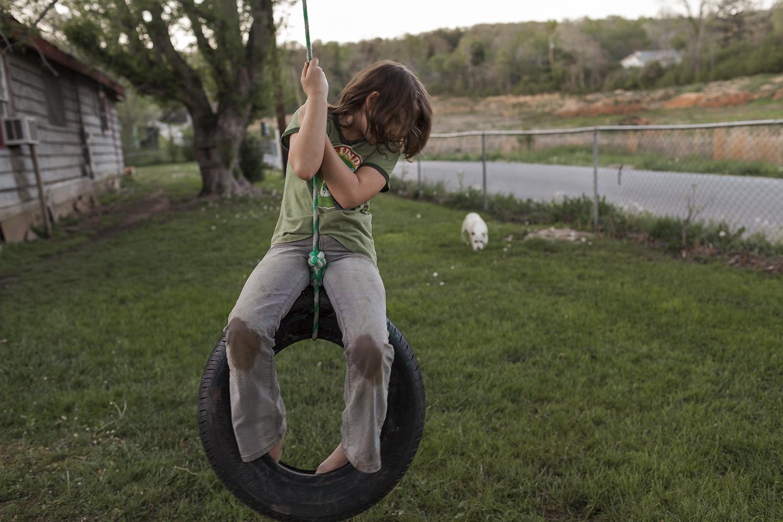 Macy on Tire Swing, Kingston, TN 2011