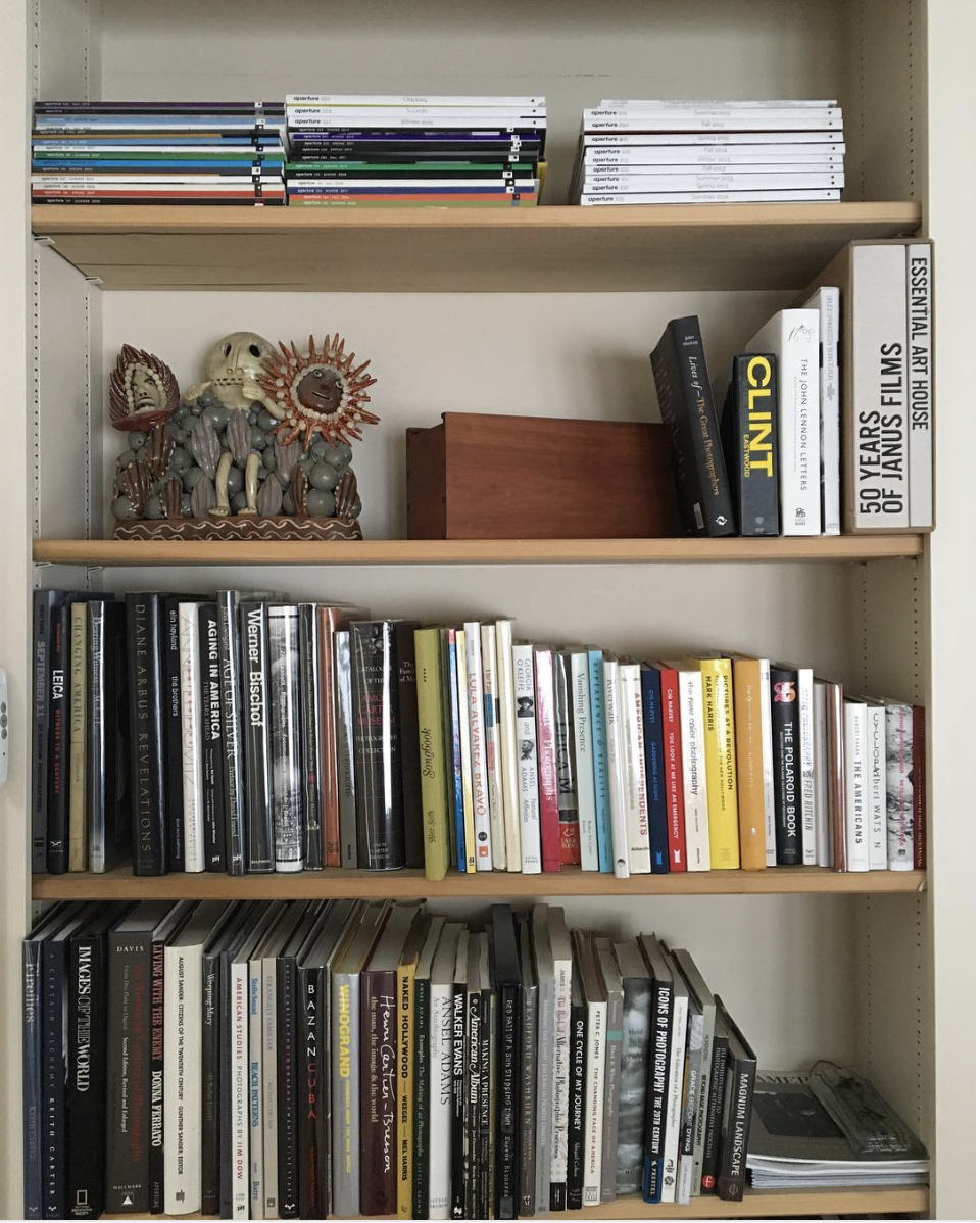 The neat and tidy photobook library of photographer  Ritch Winokur