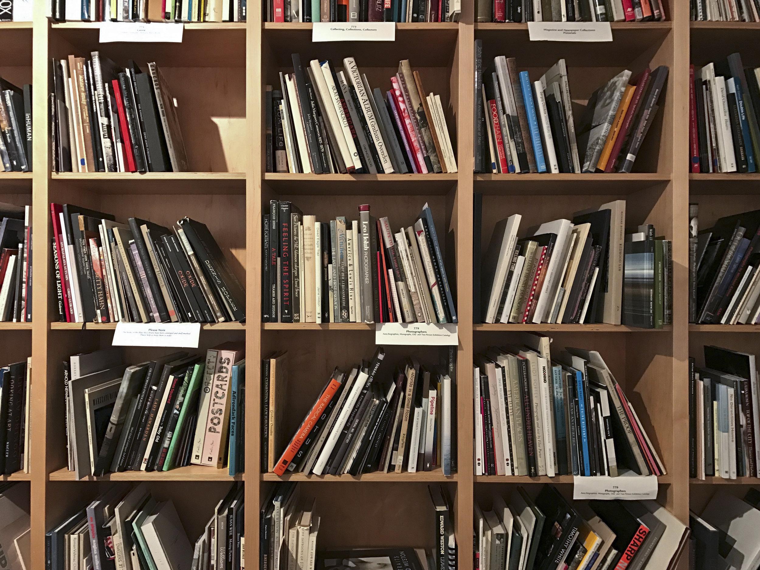 Blue Sky Gallery 's well-stocked shelves.