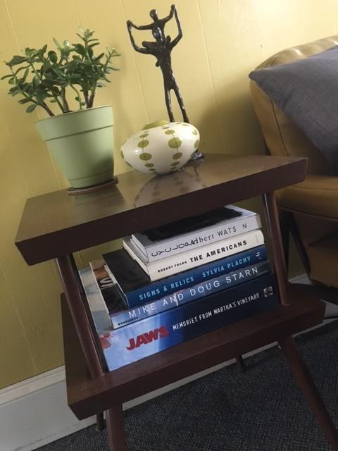 Jonathan Beller 's side table stack.