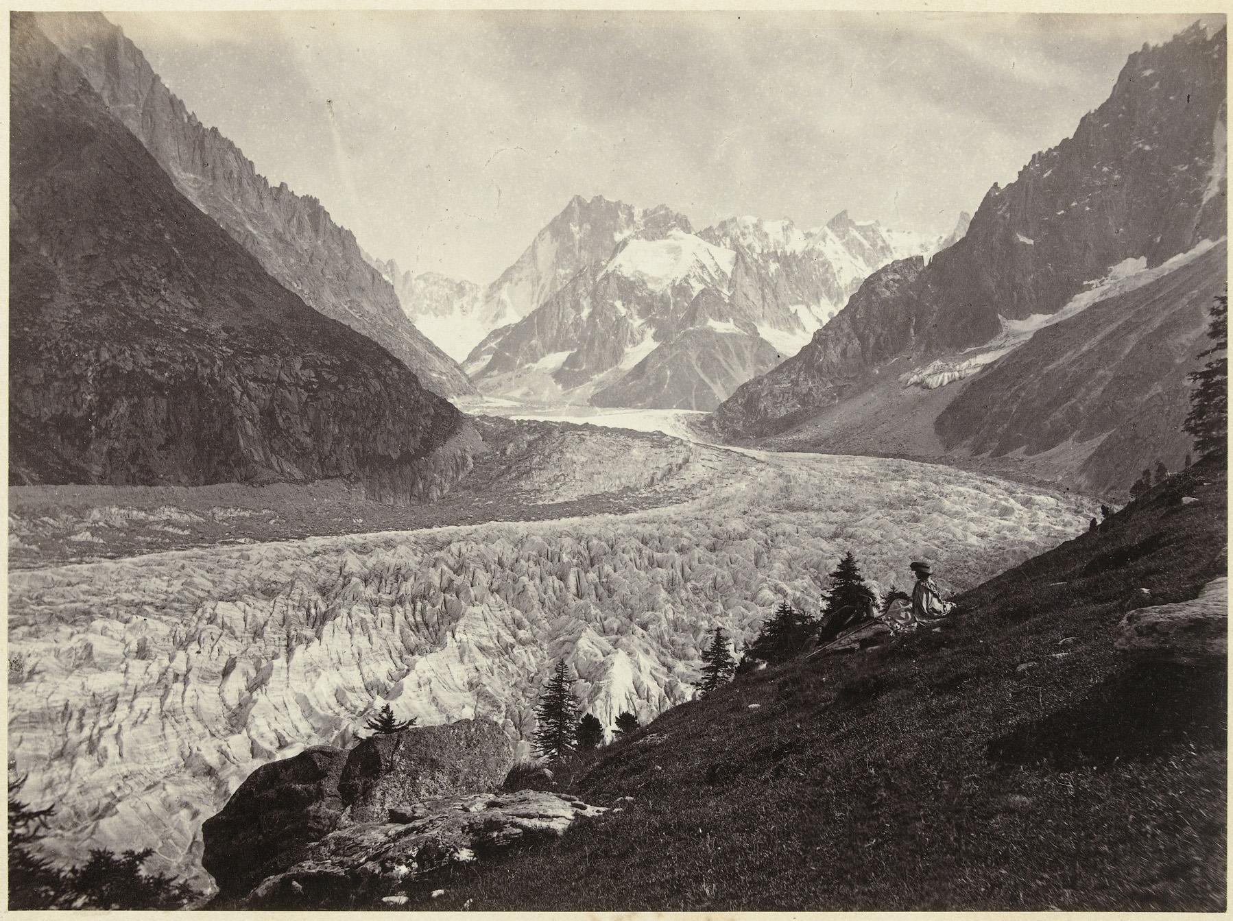 Gletsjer in Zwitserland; Views of Switzerland and Savoy; La mer de glace Montenvers, Chamonix. Photo courtesy of  Europena Collections