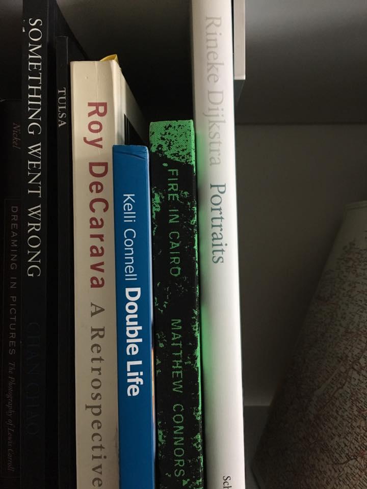 A sneak peek at  Robert Knight 's photobook library.
