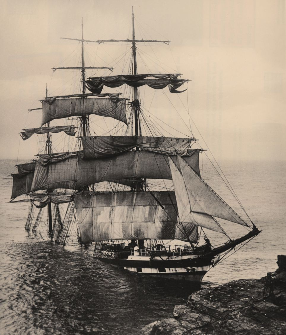 The Cromdale, a British-built iron sailing barque, ran into Lizard Point during a thick fog. The ship was carrying nitrates on its voyage from Chile to Cornwall. The crew survived, but the wreck was broken up by the sea within a week.