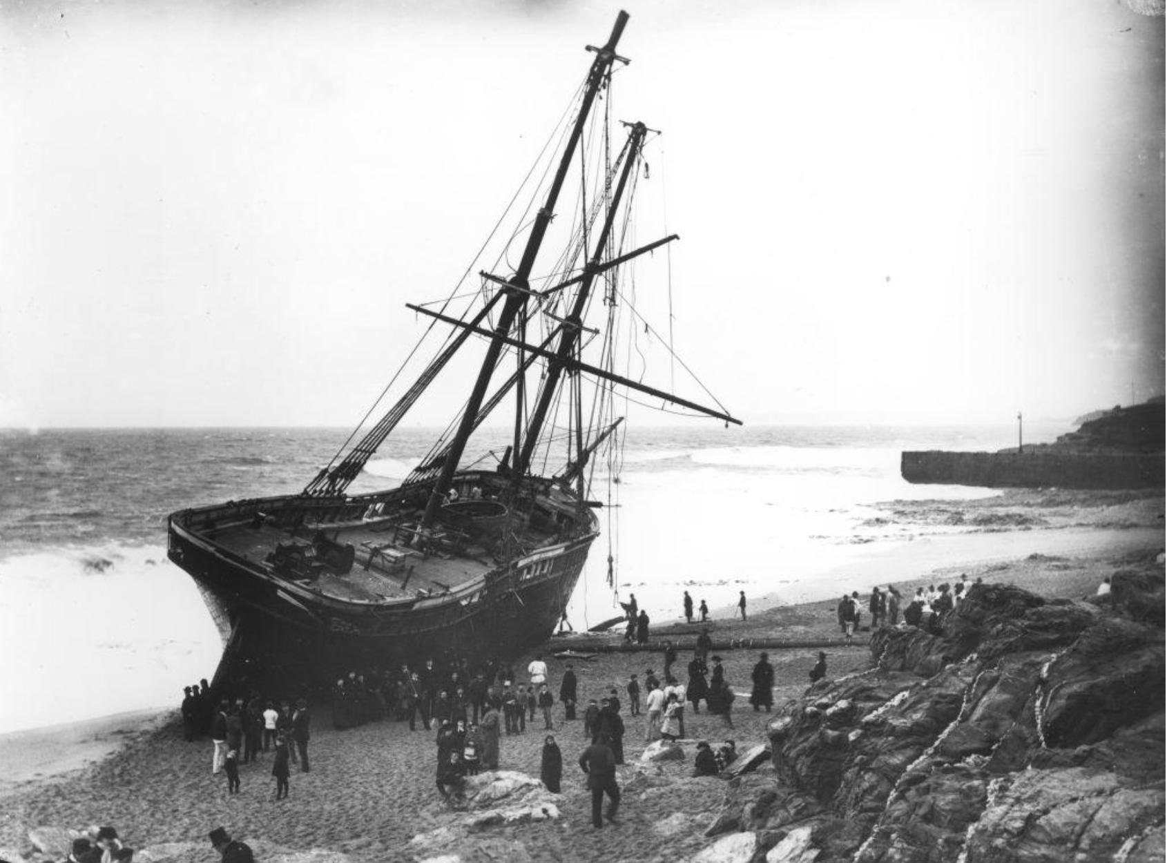 The Cviet which ran aground near Porthleven in 1884