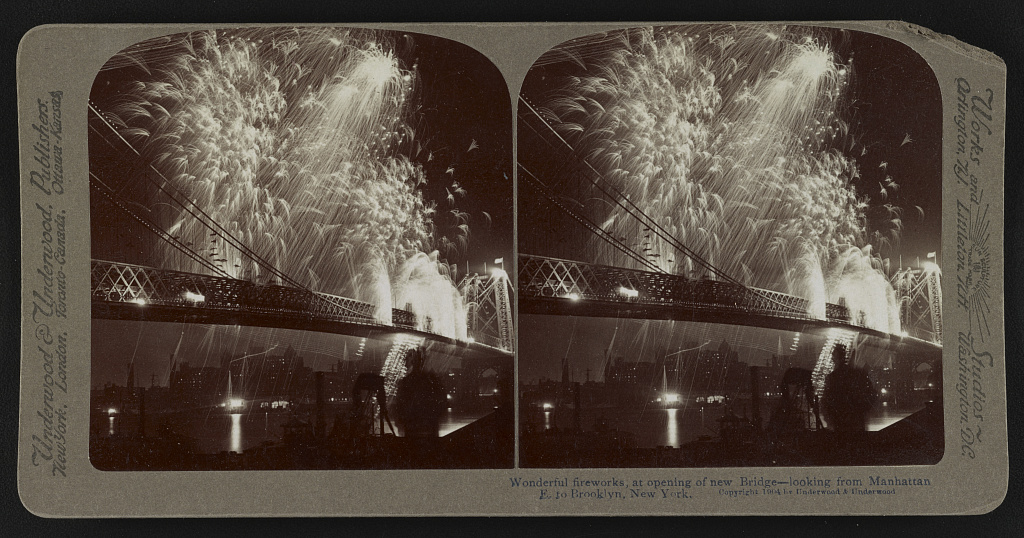 Williamsburg Bridge, NYC.  Author unknown, 1904. Courtesy of the Library of Congress.
