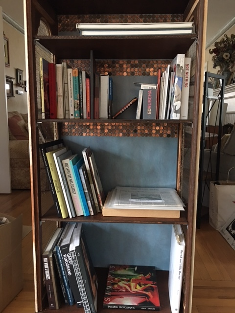 Laura Glabman 's handmade bookcase for her growing photobook collection.