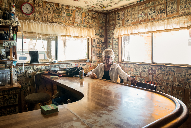 Ski Inn, Bombay Beach, CA  from the series  American Legion ,  Mariah Karson