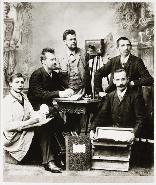 A photographer and his staff, Germany, 1890